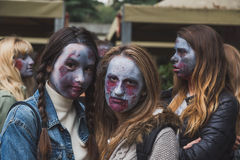 People take part in the Zombie Walk in Milan, Italy Stock Image