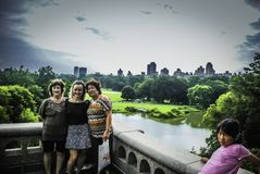 People take picture for themselves in central park, New York royalty free stock images