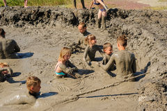 People take procedures with healing mud. Russia stock photos