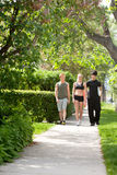 People taking morning walk Royalty Free Stock Photography