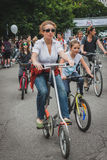 People taking part in Cyclopride 2014 Royalty Free Stock Image