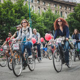 People taking part in Cyclopride 2014 Royalty Free Stock Photos