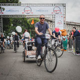 People taking part in Cyclopride 2014 Stock Images