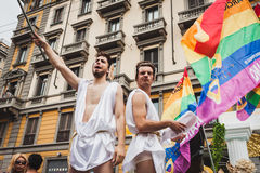 People taking part in Milano Pride 2014, Italy Stock Photos
