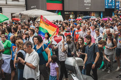 People taking part in Milano Pride 2014, Italy Royalty Free Stock Photo