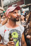 People taking part in Milano Pride 2014, Italy Royalty Free Stock Photos