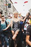 People taking part in Milano Pride 2014, Italy Royalty Free Stock Images