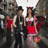 People taking part in Milano Pride 2014, Italy Stock Photo