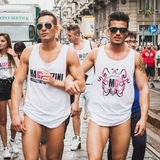People taking part in Milano Pride 2014, Italy Royalty Free Stock Image