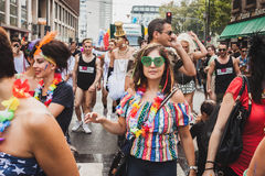 People taking part in Milano Pride 2014, Italy Stock Photography