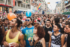 People taking part in Milano Pride 2014, Italy Stock Images