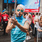 People taking part in Milano Pride 2014, Italy Royalty Free Stock Photography