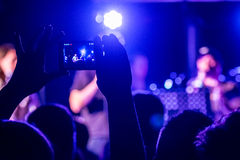 People taking photographs with touch smart phone Royalty Free Stock Image