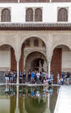 People taking photos in Alhambra Royalty Free Stock Photo