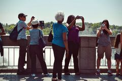 People Taking Pictures during Daytime Royalty Free Stock Images