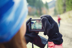 People taking pictures of each other. Royalty Free Stock Photos