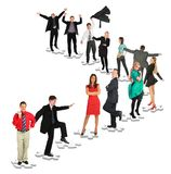 People taking positions on puzzles Royalty Free Stock Image