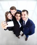 People taking selfie at businessmeeting Royalty Free Stock Images