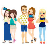 People Taking Selfie Royalty Free Stock Images