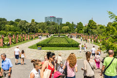 People Taking A Walk In Herastrau Park Royalty Free Stock Photography