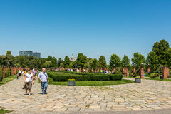 People Taking A Walk In Herastrau Park Stock Photography