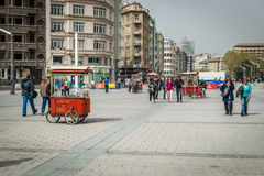 People at Taksim square in Istanbul, Turkey Stock Images
