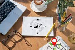 People talk Adventure Compass Longitude Latitude Navigation Dire Stock Photo