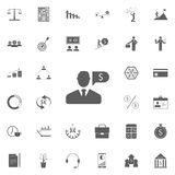 People talk about finances icon. Detailed set of Finance icons. Premium quality graphic design sign. One of the collection icons f. Or websites, web design Royalty Free Stock Photos