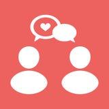 People talk icon. Illustration, eps10 Stock Image