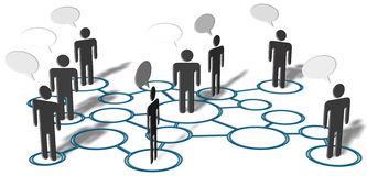 People Talk Network Social Media Connections. Symbol people talk in network of social media connection nodes Royalty Free Stock Images