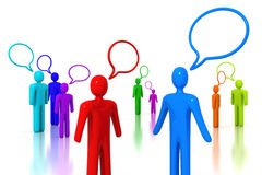 People Talking. Colorful people talking - 3D render royalty free illustration