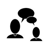 People talking bubble speech communication pictogram Royalty Free Stock Photography