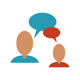 People talking bubble speech communication Royalty Free Stock Image