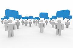 People talking. Concept of global community. Royalty Free Stock Photography