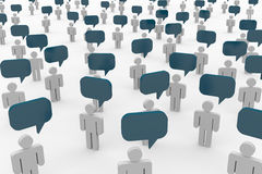 People talking. Concept of global community. Computer generated image Royalty Free Stock Photo