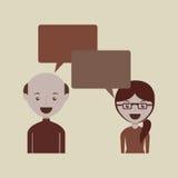 people talking design Stock Photos