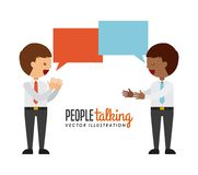 People talking. Design, vector illustration eps10 graphic Royalty Free Stock Images