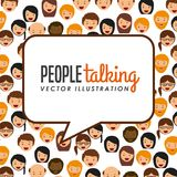 People talking. Design, vector illustration eps10 graphic Royalty Free Stock Photos