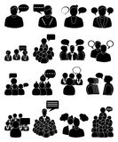People talking icons set Stock Image