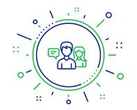 People talking line icon. Conversation sign. Vector royalty free illustration