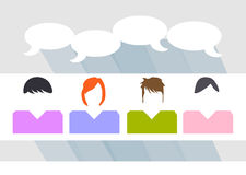 People talking sharing ideas Stock Image