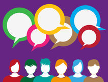 People talking sharing ideas Stock Images