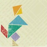 People tangram Stock Images