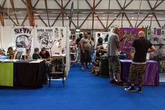 People at tattoo convention in Milan, Italy Royalty Free Stock Photography