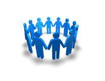 People team concept with blue 3d people Stock Photos