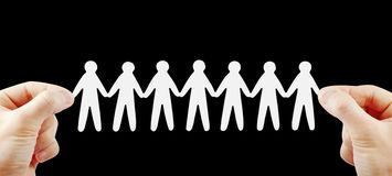 People team in hands. Teamwork concept Royalty Free Stock Photography