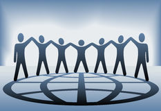 People Team Hold Up Hands Globe Royalty Free Stock Photography