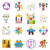 People team icons vector abstract group set teamwork union business badge network teammate partnership teamwork. Businessteams people illustration isolated on Royalty Free Stock Photos
