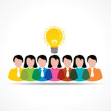 People team with idea message bubble Royalty Free Stock Photo