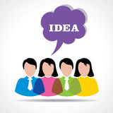 People team with idea message bubble Royalty Free Stock Image